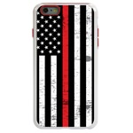 Guard Dog Hero Thin Red Line Cases for iPhone 6 Plus / 6s Plus , White / Red