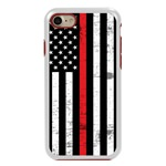 Guard Dog Hero Thin Red Line Cases for iPhone 7/8/SE , White / Red