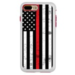 Guard Dog Hero Thin Red Line Cases for iPhone 7 Plus / 8 Plus , White / Red