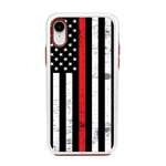 Guard Dog Hero Thin Red Line Cases for iPhone XR , White / Red