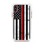Guard Dog Hero Thin Red Line Cases for iPhone XS Max , White / Red