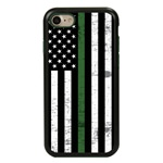Guard Dog Hero Thin Green Line Cases for iPhone 7/8/SE , Black / Green