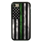 Guard Dog Legend Thin Green Line Cases for iPhone 7/8/SE , Black / Green