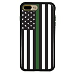 Guard Dog Honor Thin Green Line Cases for iPhone 7 Plus / 8 Plus , Black / Green
