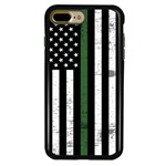 Guard Dog Hero Thin Green Line Cases for iPhone 7 Plus / 8 Plus , Black / Green