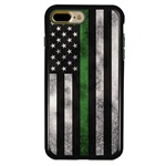 Guard Dog Legend Thin Green Line Cases for iPhone 7 Plus / 8 Plus , Black / Green