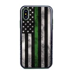 Guard Dog Legend Thin Green Line Cases for iPhone X / XS with Guard Glass Screen Protector, Black / Green