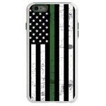 Guard Dog Hero Thin Green Line Cases for iPhone 6 Plus / 6s Plus , White / Green