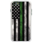 Guard Dog Legend Thin Green Line Cases for iPhone 6 Plus / 6s Plus , White / Green