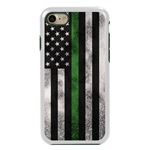 Guard Dog Legend Thin Green Line Cases for iPhone 7/8/SE , White / Green