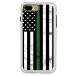 Guard Dog Hero Thin Green Line Cases for iPhone 7 Plus / 8 Plus , White / Green