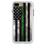 Guard Dog Legend Thin Green Line Cases for iPhone 7 Plus / 8 Plus , White / Green