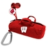 AudioSpice Wisconsin Badgers Bluetooth and Scorch Earbud with Mic Combo Plus BudBag Storage Case