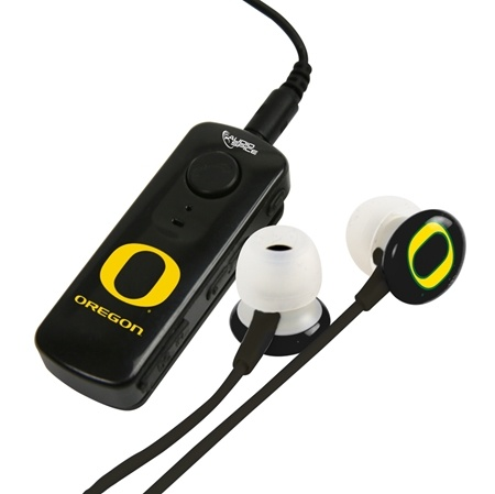 AudioSpice Oregon Ducks Bluetooth Receiver and Ignition Earbud Combo