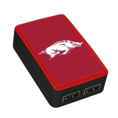 QuikVolt Arkansas Razorbacks WP-200X Classic Dual-Port USB Wall Charger