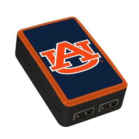QuikVolt Auburn Tigers WP-200X Classic Dual-Port USB Wall Charger
