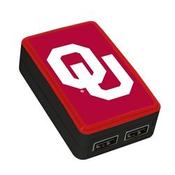 QuikVolt Oklahoma Sooners WP-200X Classic Dual-Port USB Wall Charger