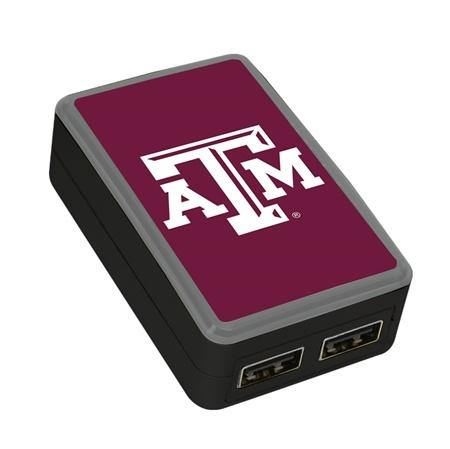 QuikVolt Texas A&M Aggies WP-200X Classic Dual-Port USB Wall Charger