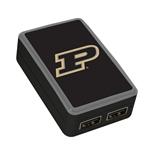 QuikVolt Purdue Boilermakers WP-200X Classic Dual-Port USB Wall Charger