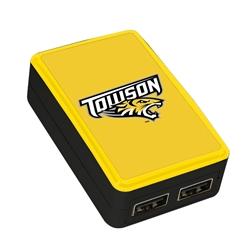 QuikVolt Towson Tigers WP-200X Classic Dual-Port USB Wall Charger