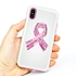 Guard Dog Pink Hybrid Cases for iPhone X / XS , Pink Courage Breast Cancer Ribbon, White/Pink Silicone