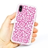 Guard Dog Pink Hybrid Cases for iPhone XS Max with Guard Glass Screen Protector, Pink Roses, White/Pink Silicone