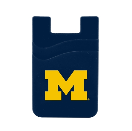 Michigan Wolverines Dual Pocket Silicone Card Keeper Phone Wallet