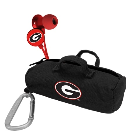 Georgia Bulldogs Scorch Earbuds with BudBag