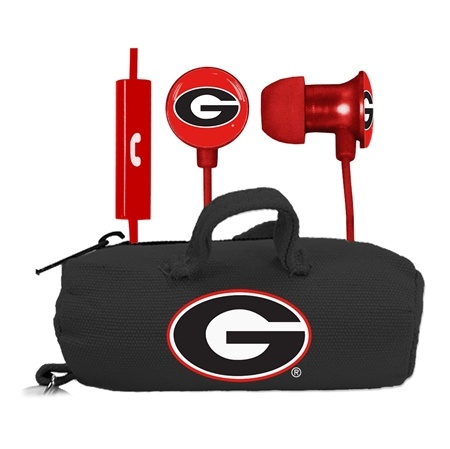 Georgia Bulldogs Scorch Earbuds + Mic with BudBag