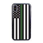 Guard Dog Honor Thin Green Line Cases for iPhone XS Max , Black / Gray