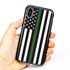 Guard Dog Honor Thin Green Line Cases for iPhone XS Max with Guard Glass Screen Protector, Black / Gray
