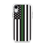 Guard Dog Honor Thin Green Line Cases for iPhone XR , White / Gray
