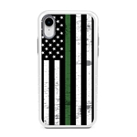 Guard Dog Hero Thin Green Line Cases for iPhone XR , White / Gray