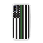 Guard Dog Honor Thin Green Line Cases for iPhone XS Max , White / Gray
