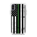 Guard Dog Hero Thin Green Line Cases for iPhone XS Max , White / Gray