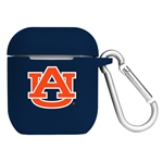 Auburn Tigers Silicone Skin for Apple AirPod Charging Case with Carabiner