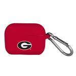 AudioSpice NCAA Georgia Bulldogs Silicone Cover for Apple AirPod Pro Charging Case with Carabiner