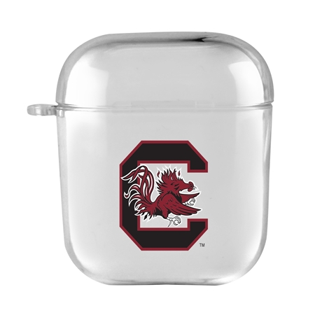 AudioSpice NCAA South Carolina Gamecocks Clear Cover for Apple Airpod Generation 1/2 Case with Safety Cord