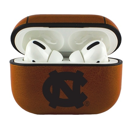 AudioSpice NCAA North Carolina Tar Heels Leather Cover for Apple Airpod Pro Case with Carabiner and Safety Cord