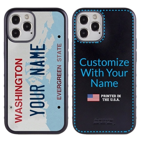 Personalized License Plate Case for iPhone 12 / 12 Pro – Hybrid Washington