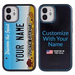 Personalized License Plate Case for iPhone 12 Mini – Hybrid North Dakota