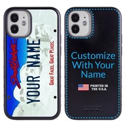 Personalized License Plate Case for iPhone 12 Mini – Hybrid South Dakota