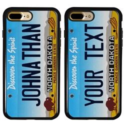 Personalized License Plate Case for iPhone 7 Plus / 8 Plus – Hybrid North Dakota