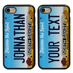 Personalized License Plate Case for iPhone 7 / 8 / SE – Hybrid North Dakota