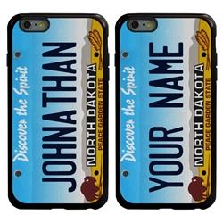 Personalized License Plate Case for iPhone 6 Plus / 6s Plus – Hybrid North Dakota
