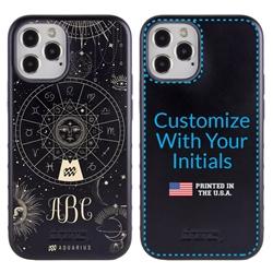 Zodiac Case for iPhone 12 / 12 Pro – Hybrid - Aquarius – Zodiac - Personalized