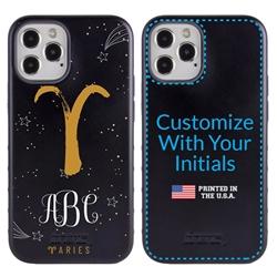 Zodiac Case for iPhone 12 / 12 Pro – Hybrid - Aries – Brushtroke - Personalized