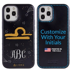 Zodiac Case for iPhone 12 / 12 Pro – Hybrid - Libra – Brushtroke - Personalized