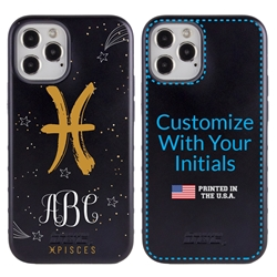 Zodiac Case for iPhone 12 / 12 Pro – Hybrid - Pisces – Brushtroke - Personalized