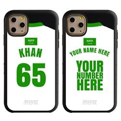 Personalized Saudi Arabia Soccer Jersey Case for iPhone 11 Pro – Hybrid – (Black Case, Black Silicone)